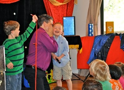 birthday magic show superfan Lucas is cracking up