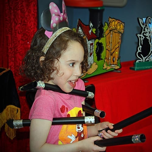 Birthday Girl and Magic Show fan