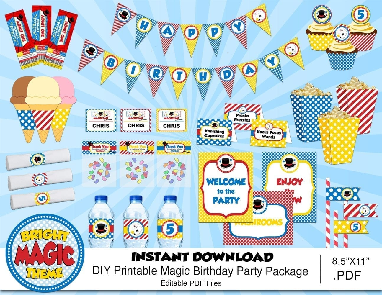 Magic show free decorations Bright
