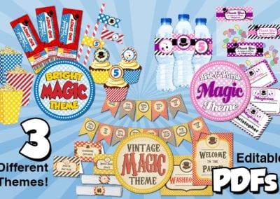 Magic show free decorations All